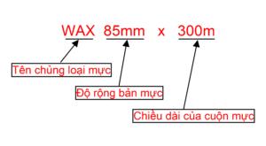 cách đọc qui cách của 1 cuộn mực in mã vạch
